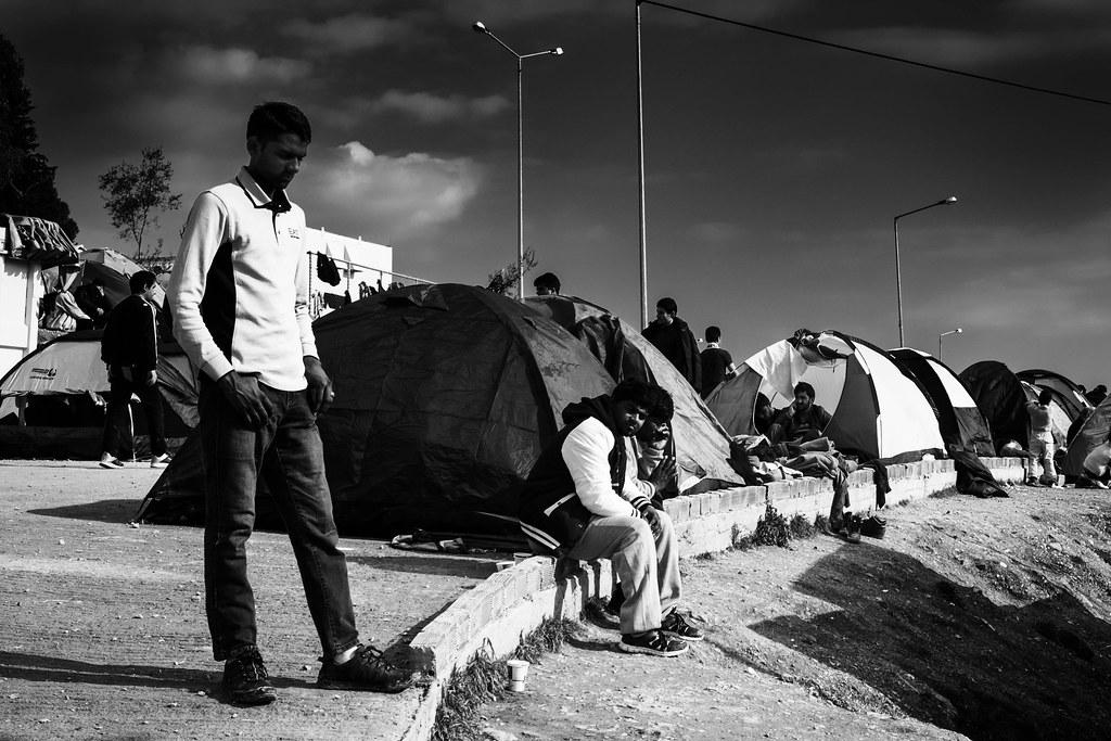 moria refugees photo